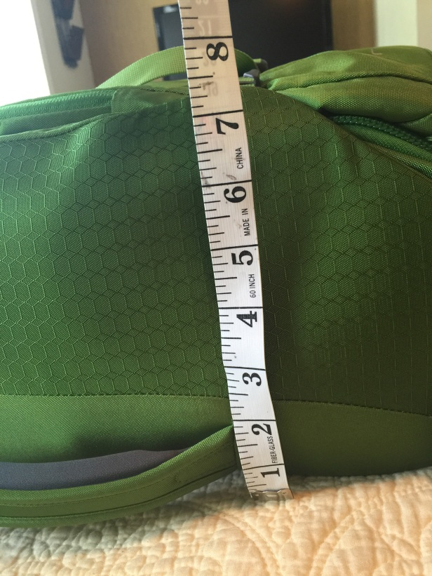 The measurements after compression