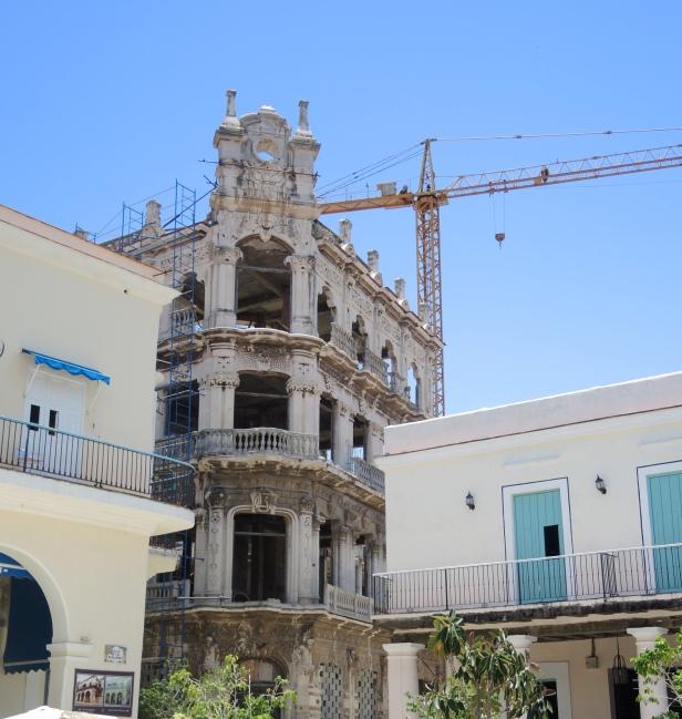 So many buildings under repair