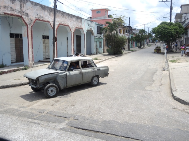 A very typical sight. I am seriously impressed with how Cubans keep these cars running.