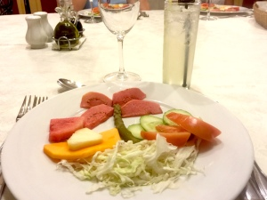 Nice salad presentation
