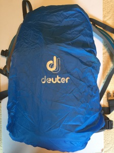 Deuter with rain cover